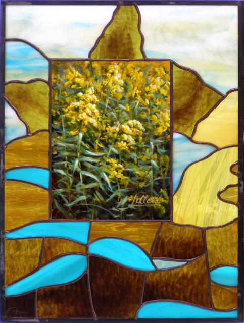 tableau-vitrail, Tableau-Vitrail | À L'AUTOMNE DE L'ÉTÉ, Nature2Art.com