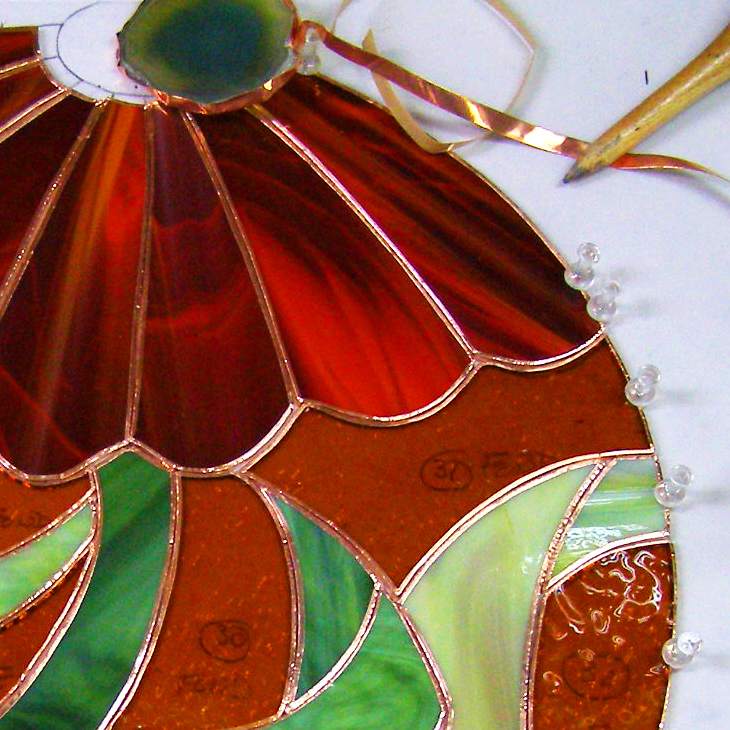Formations vitrail cours de technique Tiffany et traditionnelle et verre fusion, FORMATIONS & ATELIERS | SYLVIE, Nature2Art.com