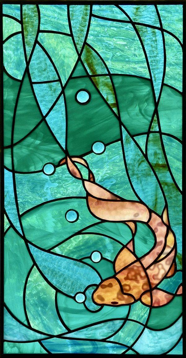 Vitrail poisson, Vitrail | AQUARIUS, Nature2Art.com